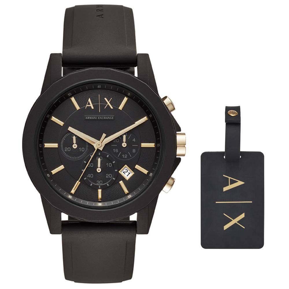 AX7105 Erkek Set Kol Saati ve Valiz Etiketi